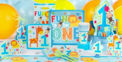 Wild at One Boys 1st Birthday Party Supplies Party City