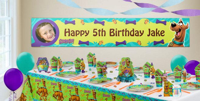 Scooby Doo Birthday Party Decorations: Custom Scooby-Doo Birthday Banners