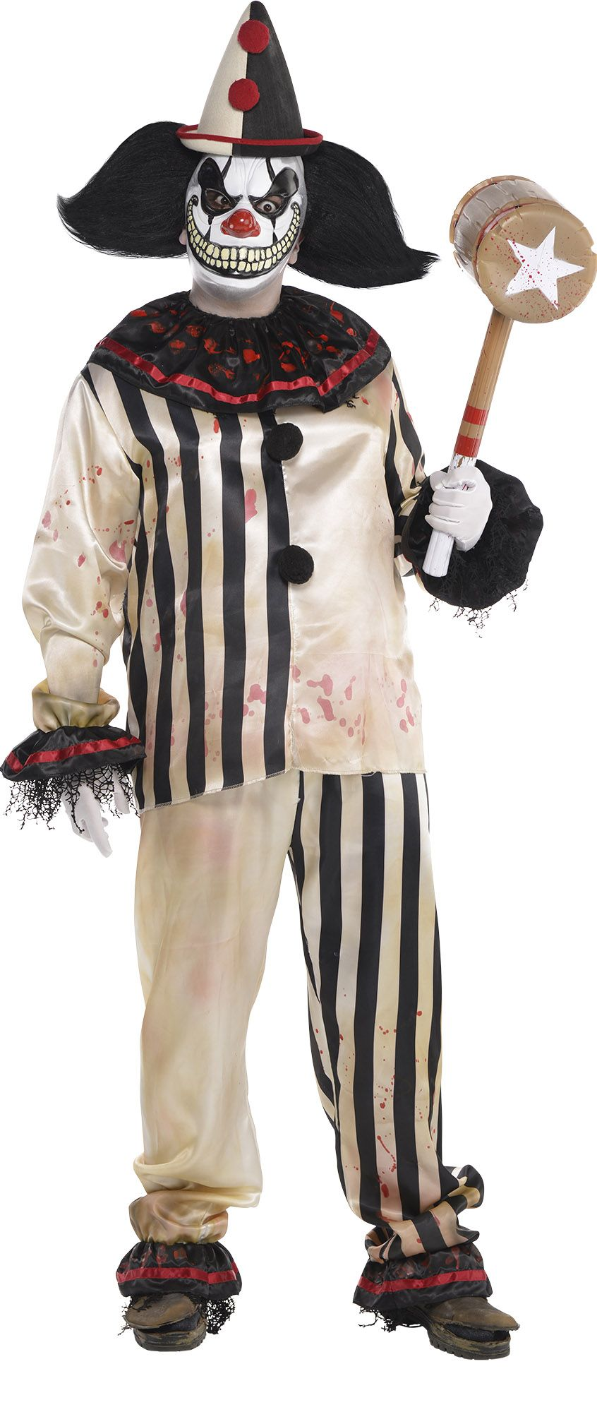 Create your own men 39 s scary clown costume accessories for Tattoo freak costume