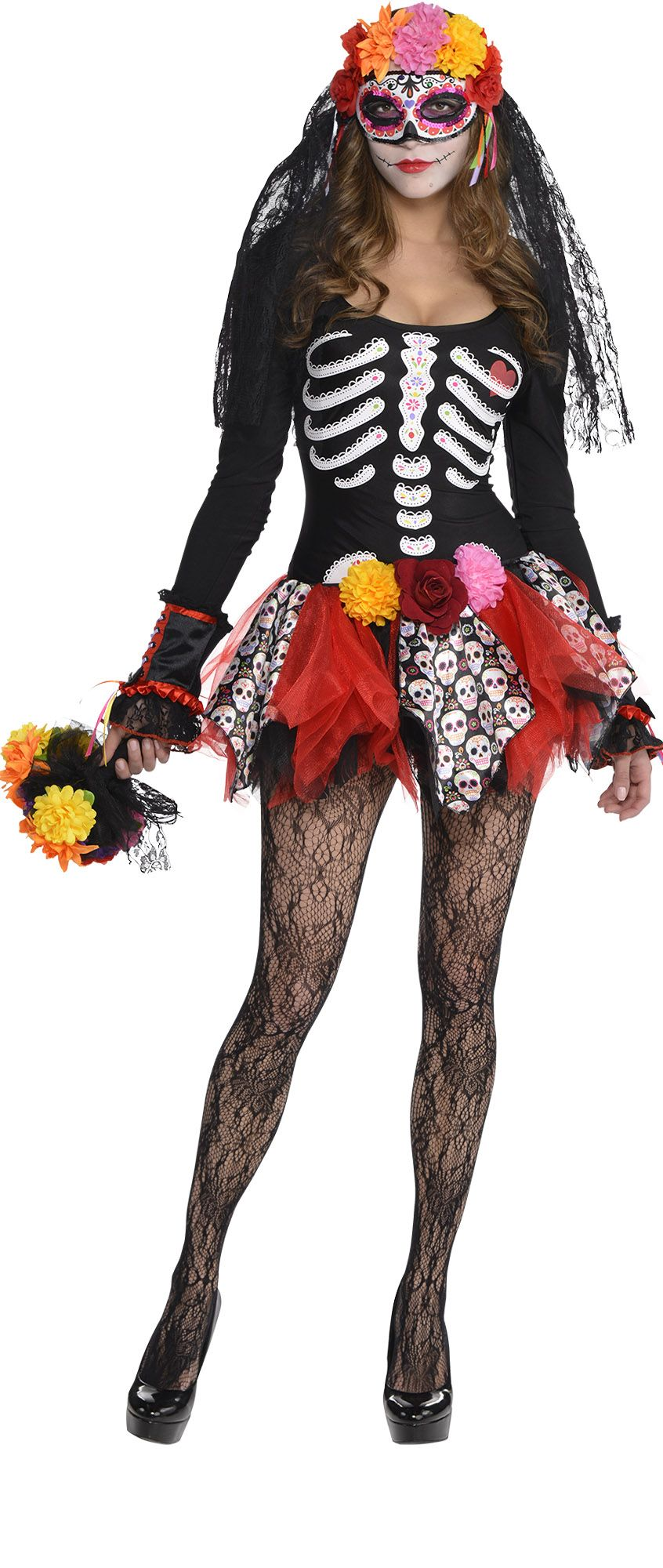 Create Your Own Women\'s Sugar Skull Costume Accessories - Party City