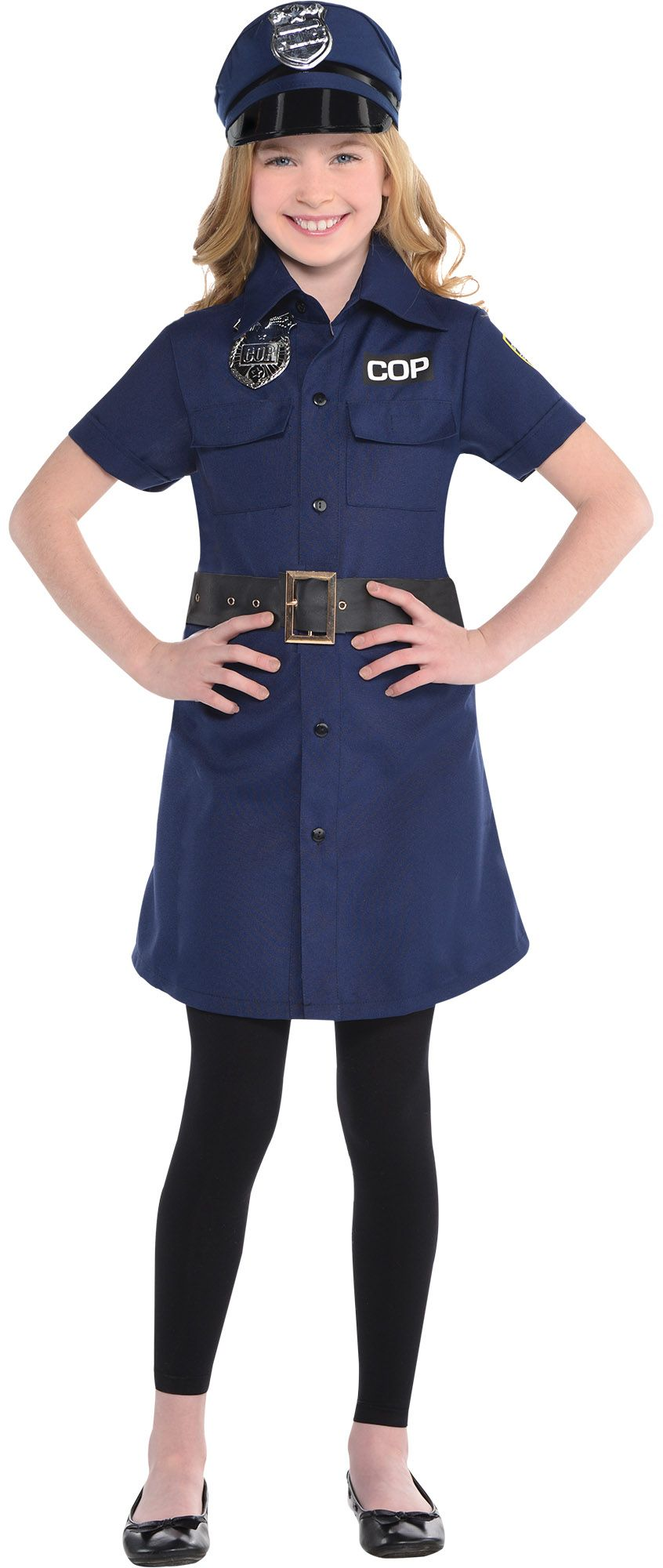 girl police create your look - Girls Cop Halloween Costume