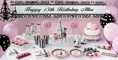Pink Paris 13th Birthday Party Supplies Party City