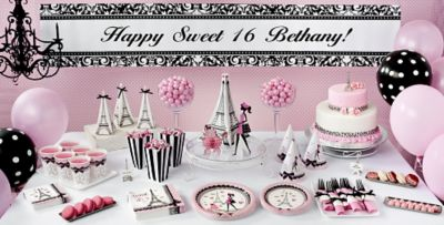 Pink Paris Sweet 16 Party Supplies Party City