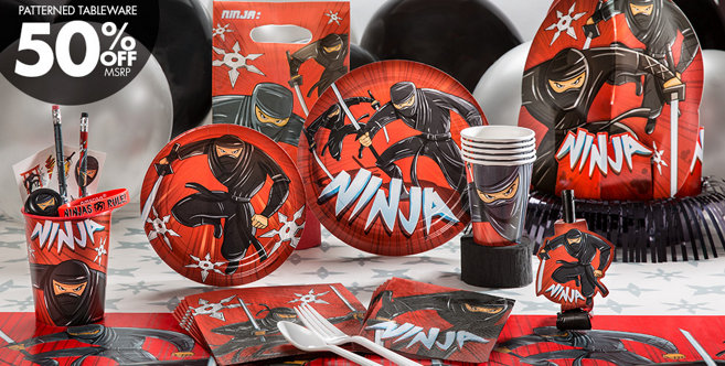 Ninja Party Supplies Ninja Birthday Party Party City