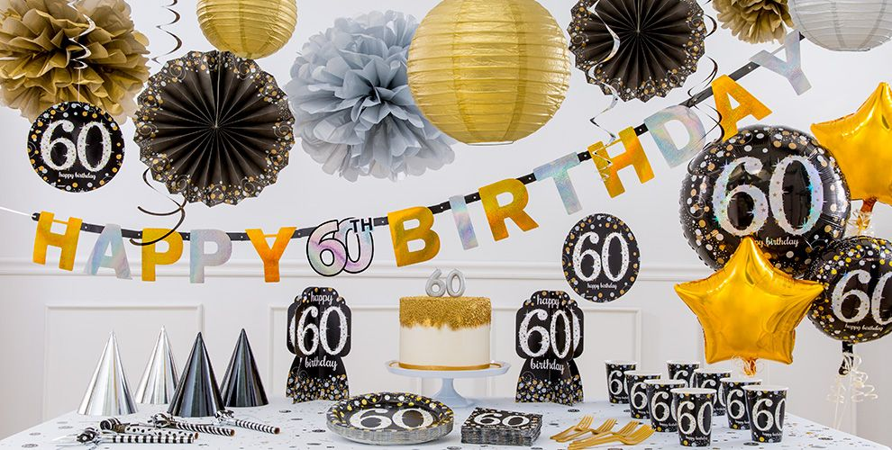 Sparkling celebration 60th birthday party supplies party for 60th birthday decoration ideas