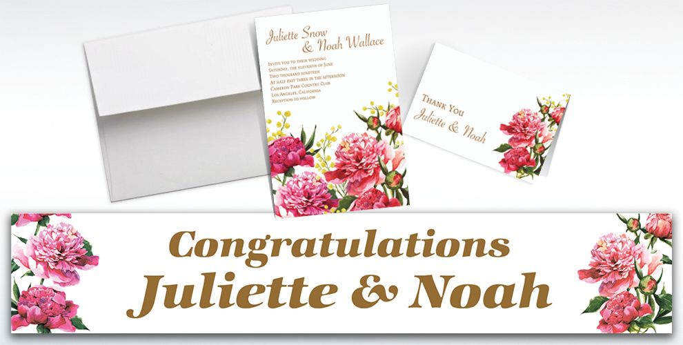 Custom Delicious Bouquet Invitations and Thank You Notes