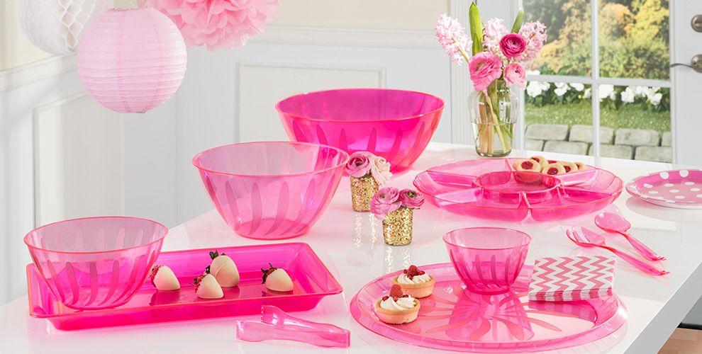 Bright Pink Serving Trays Bowls Amp Utensils Tableware