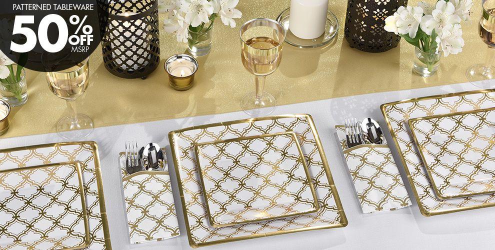 Metallic Gold Moroccan Party Supplies