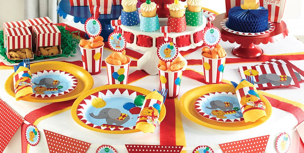 carnival 1st birthday party supplies carnival theme party party city - Partycitycom Birthday Party Supplies