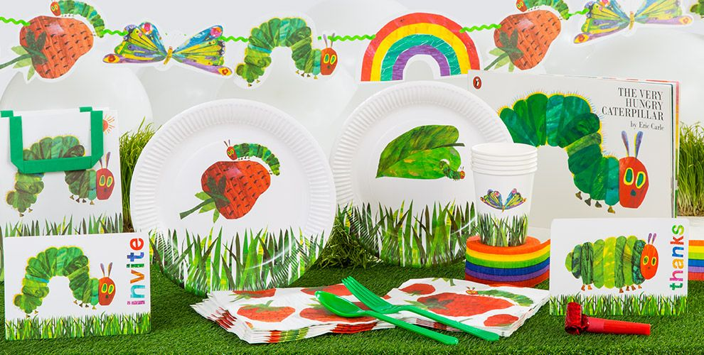 The very hungry caterpillar party supplies hungry for 1st birthday decoration packs