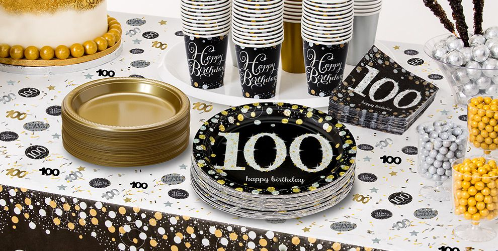 Sparkling Celebration 100th Birthday Party Supplies
