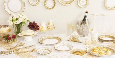 Porcelain Gold Party Supplies  sc 1 st  Party City & Wedding Reception Supplies - Wedding Reception Tableware   Party City