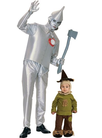 Scarecrow and Tin Man Wizard of Oz Daddy and Me Costumes