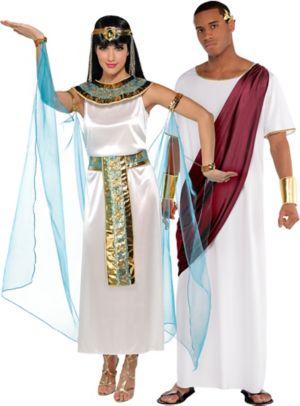 Adult Queen Cleopatra & Augustus Caesar Couples Costumes