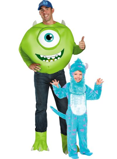 Monsters University Mike and Sulley Daddy and Me Costumes
