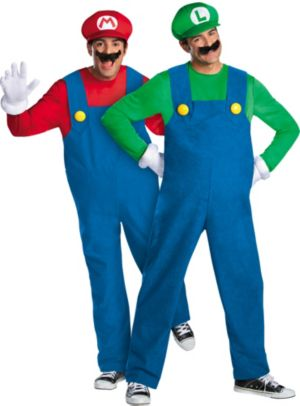 Adult Mario & Luigi Couples Costumes