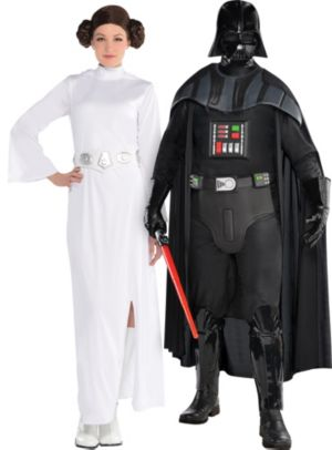 Adult Princess Leia & Darth Vader Couples Costumes - Star Wars
