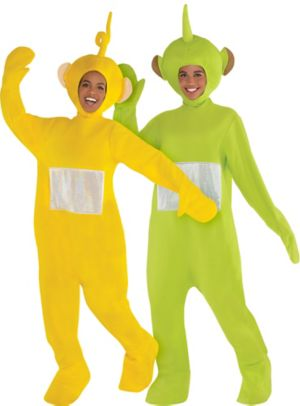 Adult Laa Laa & Dispy Couples Costumes - Teletubbies
