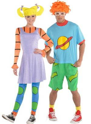 Adult Angelica & Chuckie Couples Costumes - Rugrats