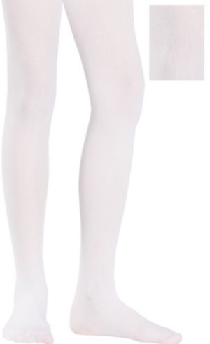 Child White Seamless Tights