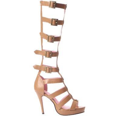 Tan Multi-Strap Knee High Sandals