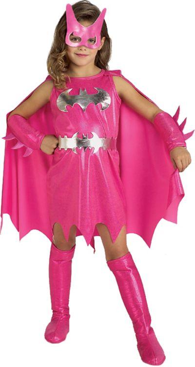 Girls Pink Batgirl Costume - Batman