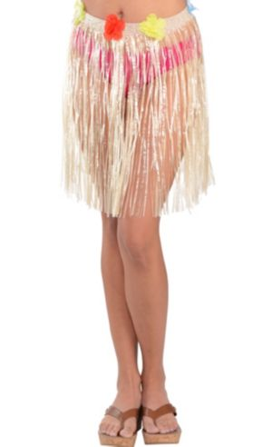 Adult Plastic Mini Hula Skirt 18in Party City