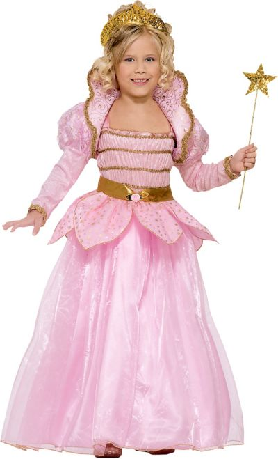 Girls Little Pink Princess Costume
