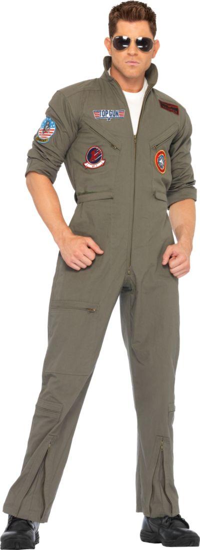 Adult Men's Flight Suit Costume - Top Gun