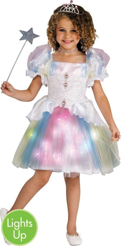 Girls Light-Up Rainbow Ballerina Costume