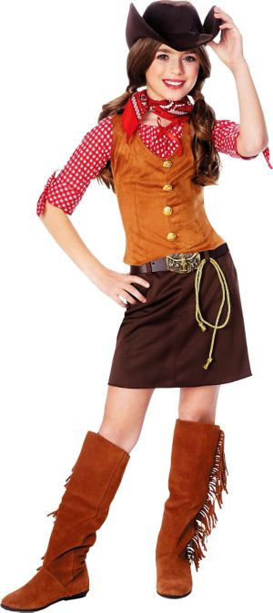 Girls Gunslinger Cowgirl Costume
