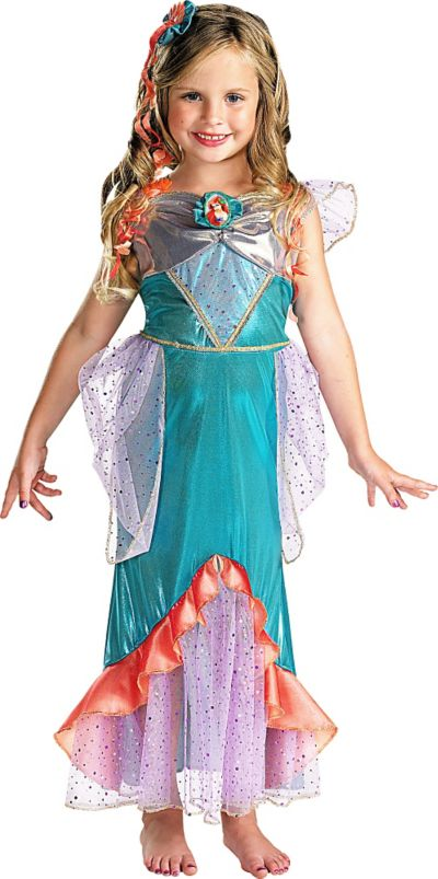 Girls Ariel Costume Deluxe - The Little Mermaid