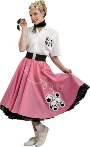 Adult 50's Pink Poodle Dress Costume Grand Heritage