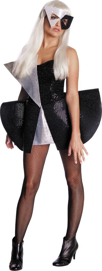 Adult Black Sequin Dress Lady Gaga Costume