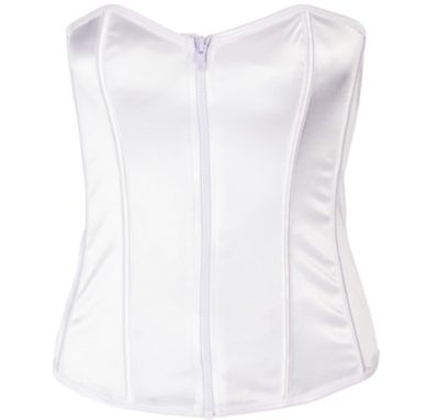 Perfectly Polished White Bustier