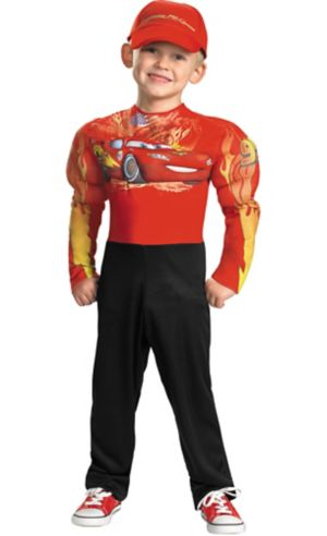 Toddler Boys Lightning McQueen Muscle Costume - Cars 2