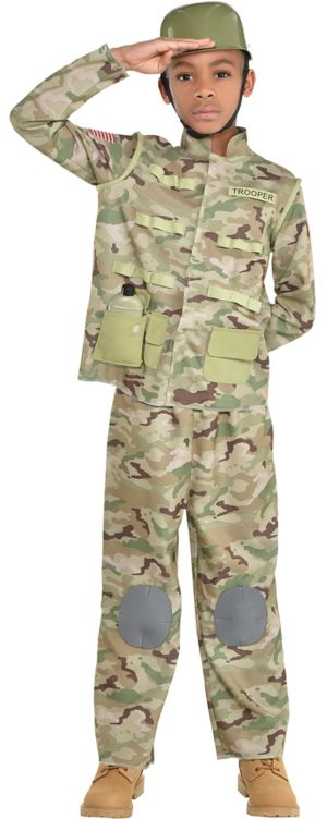 Boys Combat Soldier Costume