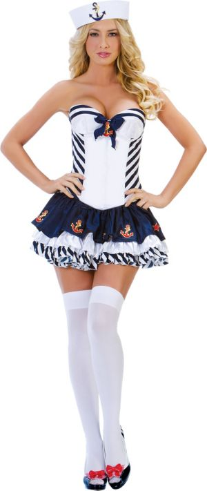 Adult Stripe Sailor Costume