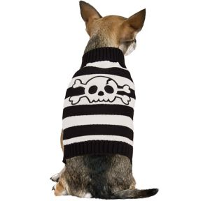Striped Skull Dog Sweater