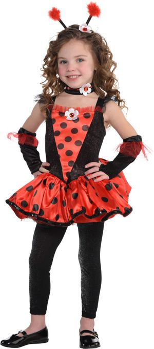 Little Girls Totally Ladybug Costume
