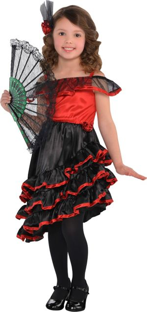 Little Girls Spanish Dancer Costume