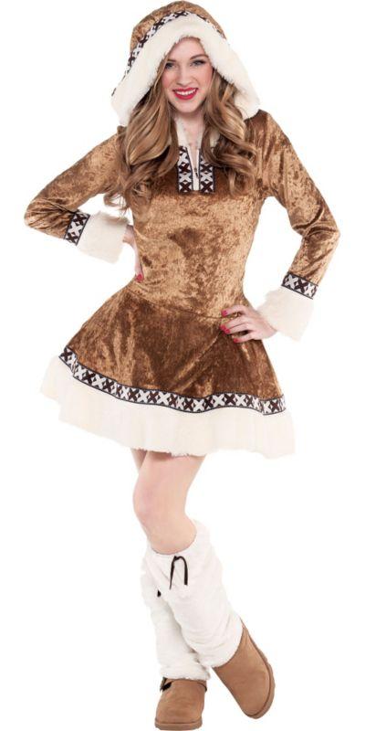 Teen Girls Snow Bunny Costume