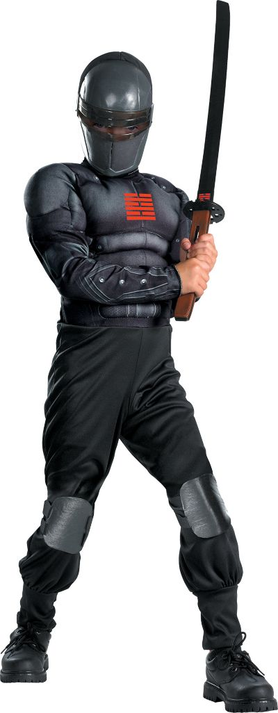 Boys Light-Up Snake Eyes Muscle Costume - G.I. Joe