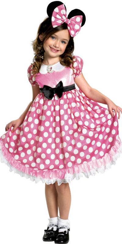 Girls Glow in the Dark Minnie Mouse Costume