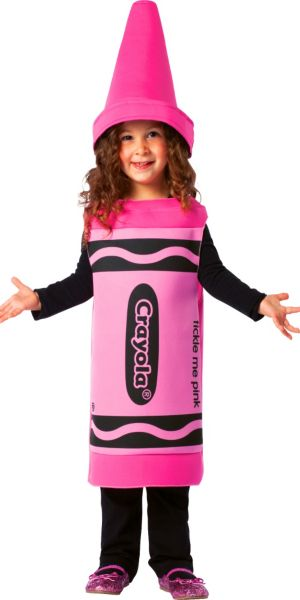 Toddler Girls Pink Crayola Crayon Costume