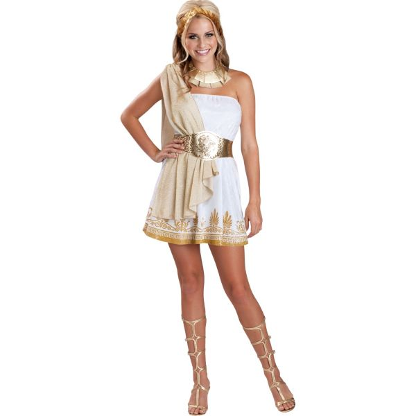 teen girls glitzy goddess costume on the hunt