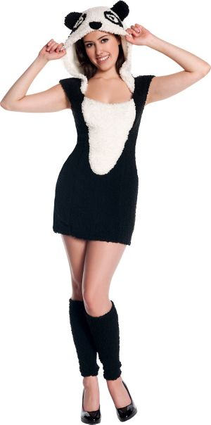 Teen Girls Panda Costume