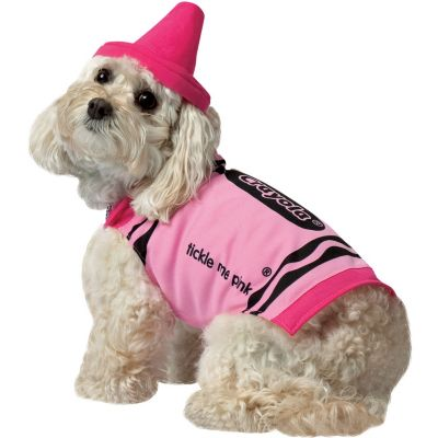 Tickle Me Pink Crayola Crayon Dog Costume