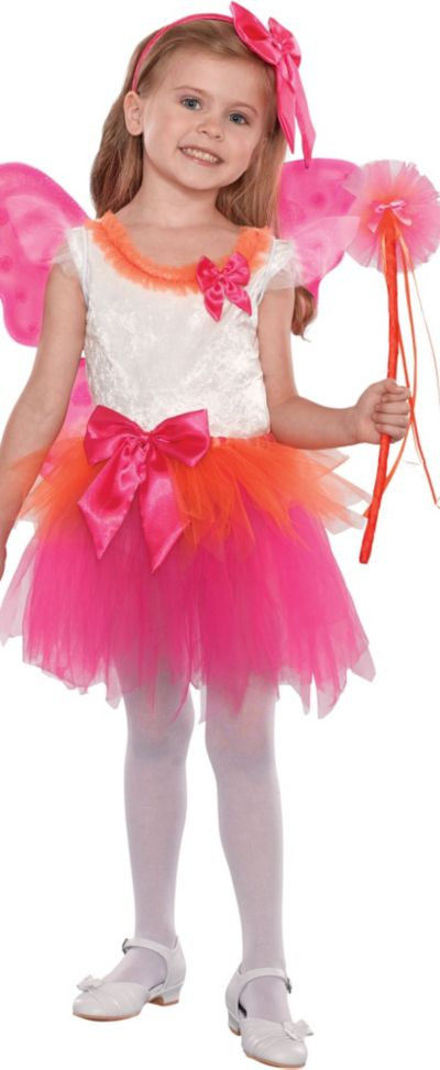 Girls Fuchsia Fairy Princess Costume