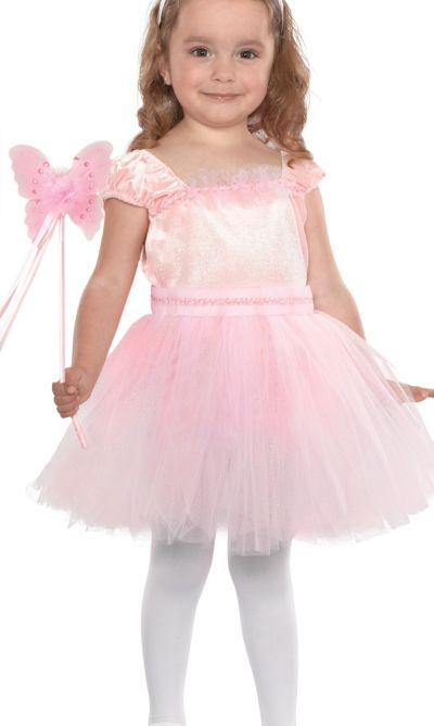 Toddler Girls Pink Butterfly Fairy Costume
